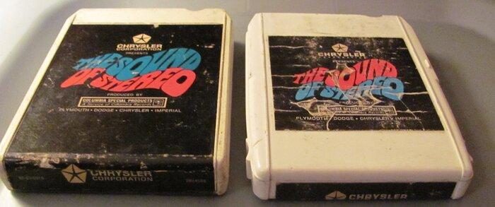 chrysler sound of stereo 8 track tapes.JPG
